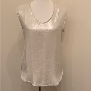 Metallic silk blend J. Crew camisole, NEVER WORN